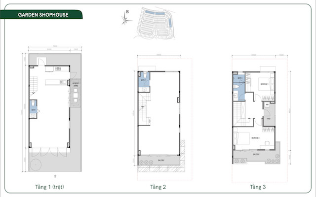 Layout thiết kế Garden Shophouse Id Junction Long Thành
